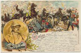 54) MARS-La-TOUR : Rare Et Superbe Lithographie Des Combats Du 16 Août 1870 - Francia