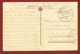 Zichtkaart Doornik / Tournai Met Veldpoststempel 30/1/1918;  2 Scan - WW I