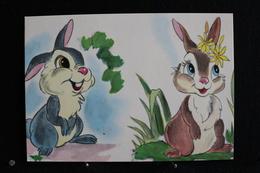 T-D, N°14 / Carte Postal Humoristique-Walt Disney Productions  - (Personnages) Banbi, Couple De Lapins - Disney