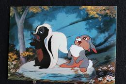 T-D, N°16 / Carte Postal Humoristique-Walt Disney Productions  - (Personnages- Banbi ),Le Lapins Et Le Putois - Disney