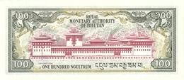 BHUTAN P. 18a 100 N 1986 UNC - Bhoutan