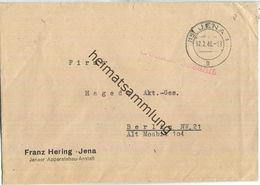 Brief Aus (15) Jena Vom 07.02.1946 Mit 'Gebühr Bezahlt' Stempel B1a In Rot '8' - Sowjetische Zone (SBZ)