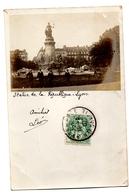 Carte Photo Lyon Statue République - Lyon