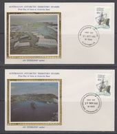 "AAT 1981/1982  Kista Dam 4 FDC ""Silk"" Ca Mawson, Macquarie, Davius, Casey (40795) - FDC"