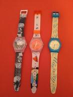 Lot De Horloges De Montres Publicitaires De Collection - Advertisement Watches