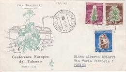FDC Conferenza Europea Del Tabacco - Timbres N° 567/569 - 1959 - 6. 1946-.. Republic