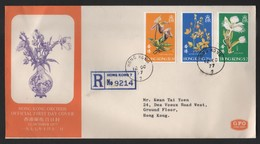 Hong Kong 1977 Orchids Official First Day Cover - 1997-... Région Administrative Chinoise