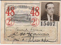 Portugal - Carris De Ferro De Lisboa Passe Semestral 1948 - Tramways