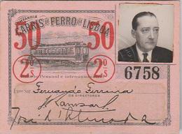 Portugal - Carris De Ferro De Lisboa Passe Semestral 1950 - Tramways