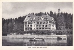 WEGGIS - LUZERN - SUISSE - PEU COURANTE CPA ANIMÉE 1954 - AVEC MENU DE L'HÔTEL. - LU Luzern