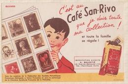 8/44 BUVARD CAFE SAN RIVO COLLECTION TIMBRES. - Café & Thé