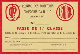 Portugal - CP  -Passe De Livre Circulação 1971 - Railway