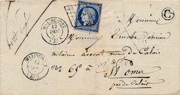 Lettre N°4 Grille CaD Walincourt X2 Nord Boite Rurale C Port Payé Manuscrit - Marcofilie (Brieven)