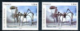 Variété - N°Yvert 4492 - 1 Exemplaire  Bleu Gris + 1 Brun Violet , Neufs Luxe - Ref V609 - Errors & Oddities