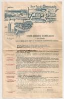 FACTURE 1900 LA CARBONIQUE LIQUIDE / USINE DE BEGLE / USINE DE VELAUX 13 / BORDEAUX - France