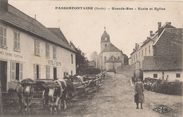 PASSONFONTAINE - GRANDE RUE - ECOLE ET EGLISE - Frankreich