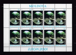 FEUILLE NEUVE** EUROPA 2001 TIMBRE N°337 - L'EAU RICHESSE NATURELLE - Moldavie