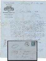 TEXTILE - FILATURE - TISSAGE / 1869 COURRIER ILLUSTRE BOIGEOL JAPY - GIROMAGNY (ref 675b) - Textile & Vestimentaire
