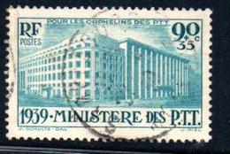 France  /  N 424 / 90 Centimes + 35 Centimes Bleu / Oblitéré/ Côte 22 € - France