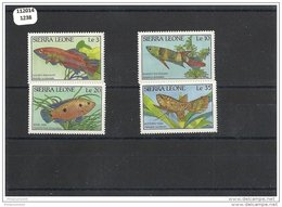 SIERRA LEONE 1988 - YT N° 880/883 NEUF SANS CHARNIERE ** (MNH) GOMME D'ORIGINE LUXE - Sierra Leone (1961-...)