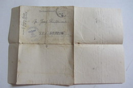 Lettre Dabo Soldat - Dokumente