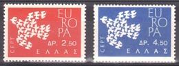 Grèce - 1961 - N° 753a (sans Teinte Rose) Et 754 - Neufs ** - Europa - Grèce