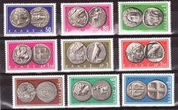 Grèce - 1963 - N° 785 à 793 - Neufs ** - Monnaies Anciennes - Grèce