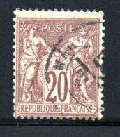 France  /   N 67 / 20 Centimes Brun  / Oblitéré / Côte 20 € - France