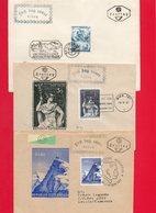 3 Plis En 1° Jour (thème Divers ) - Briefmarken