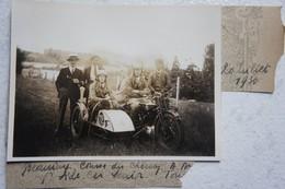 Photo SIDE CAR NORTON Beauraing 1930 Motorcycle Motorcycle Moto Rallye Course - Automobili