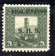 T341 - YUGOSLAVIA 1919 , Soprastampati  Unificato N. 46a  *  Dent  9 1/2 - Nuovi