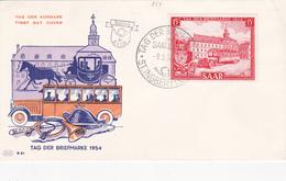 FDC Tag Der Briefmarke 1954 - SAAR - Timbre N° 329 - [7] République Fédérale