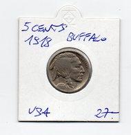 Stati Uniti - 5 Centesimi - 1918 - Buffalo - Argento - (MW1529) - Stati Uniti
