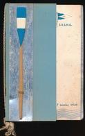ZELDZAME MENU - GENTSCHE ROEICLUB S.R.S.N.G. 7 JAN 1939 - CHAMPIONS DE BELGIQUE EN DEUX, QUATRE ET HUIT SENIORS 4 SCANS - Menus