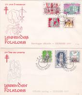 Série 2 FDC  Légendes Et Folklores  - Timbres N° 1039/45 - Côte 30.00€ Les 2 - FDC