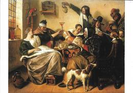 Oeuvre De Jan Steen, Autour De La Table, Vin, Pipe, Perroquet, Musique, Cornemuse, Chien - Peintures & Tableaux