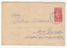 Yugoslavia, Postal Stationery Letter Cover Travelled 1950 Križevci To Nova Gradiška B181001 - Ganzsachen