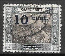 1921 10c Overprint On 30pf, Used - Used Stamps
