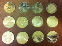 1 LOT DE 12 MÉDAILLES TOURISTIQUE  MONNAIE DE PARIS JETON MEDALS TOKEN COINS MONNAIE - Monnaie De Paris