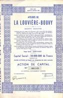 Titre Ateliers De La Louvière - Bouvy Sa (Saint-Vast, 1944) - Actions & Titres