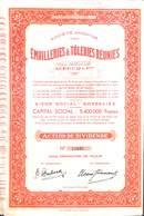 Titre SA Emailleries & Tôleries Réunies , Gosselies 1944 - Actions & Titres