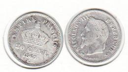 France  20c  1867 K  20 Centimes - Francia