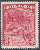 British Guiana. 1934-51 KGV. 3c MH. P13X14 SG 230b - British Guiana (...-1966)