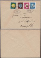 Suisse 1948 - Lettre Jeux Olympiques St-Moritz (4G30167) DC0094 - Invierno 1948: St-Moritz