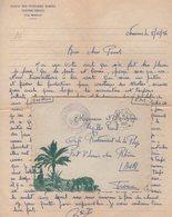 Nemours Marine - Oran - 1956 - Courrier De L'ecole Des Fusillers Marins - Centre Siroco - Cap Matifou - Algerien (1924-1962)