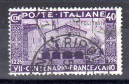 1926; Saint François, YT 27, Oblitéré, Lot 50046 - Tripolitania