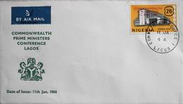 Enveloppe 1er Jour NIGERIA 1966 - Conférence Des Premiers Ministres Du Commonwealth à Lagos - Daté 11 Janvier 1966 - TBE - Nigeria (1961-...)