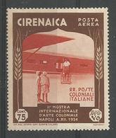 Exposition D'art Colonial à Naples 75c Marron Et Brun Orange - Cirenaica