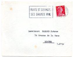 VIGNE & VIN = 21 NUITS ST GEORGES 1955 = FLAMME SECAP  ' SES GRANDS VINS ' - Storia Postale