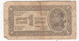 Yugoslavia (DFJ), One Dinar Banknote 1944 B181001 - Jugoslavia